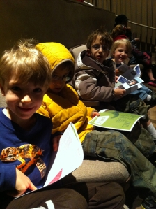 A trip to the theater to see Junie B Jones, Jingle Bells, Batman Smells