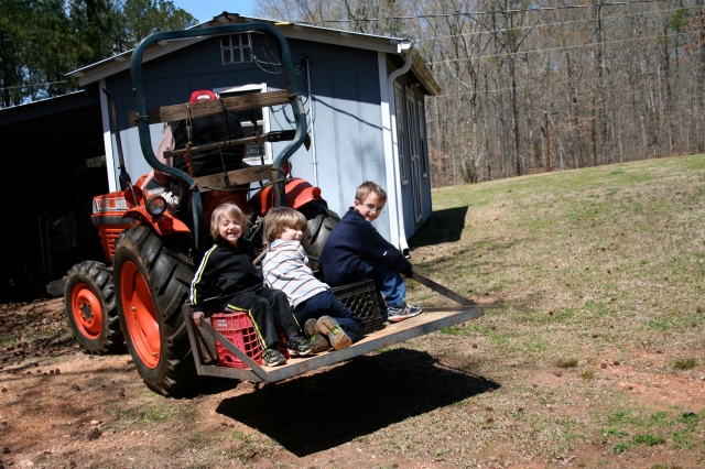 Tractor riding.