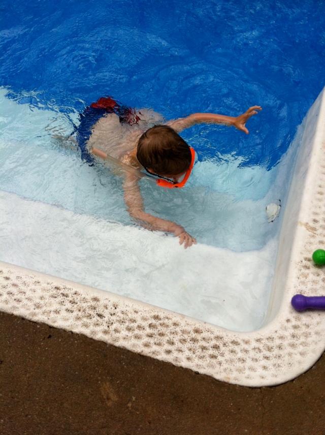 Gabriel snorkeling