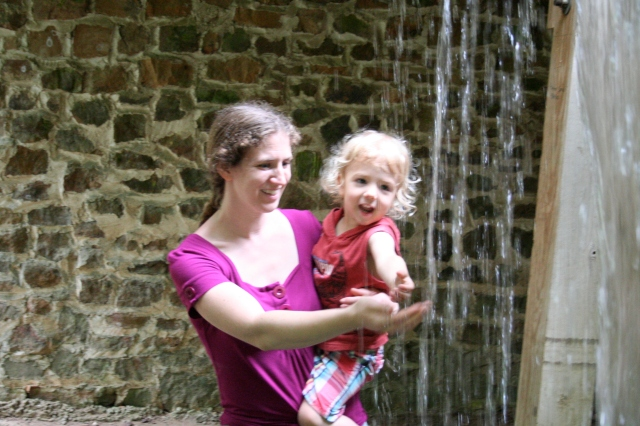 The water at the mill felt good in the heat. And as usual, Sebastian needed his face washed.