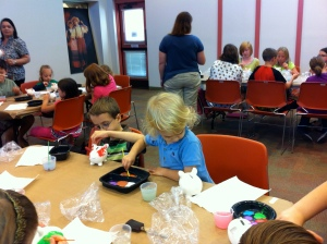 Painting at the library