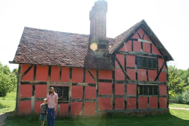 Adam and Isaac at the English house.