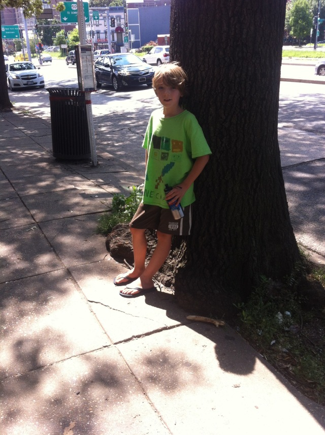 Jack--we were impressed by the tree growing over the sidewalk.