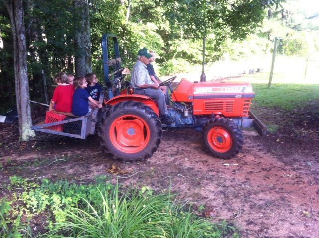 Tractor Riding with Papa Joe