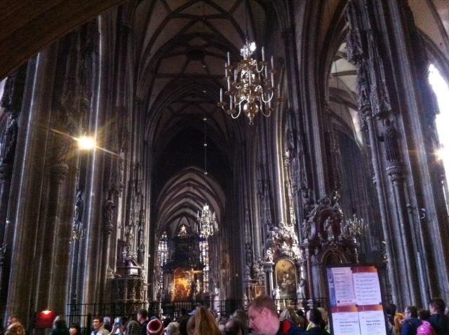 Inside the Stephansdom
