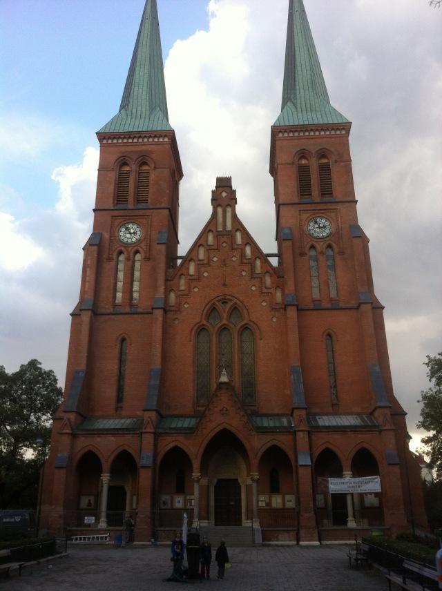 Brigittekirche--just down from our apartment