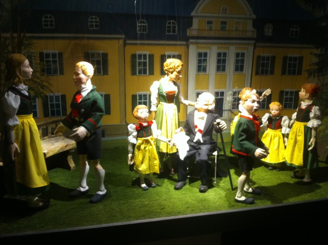 The Sound of Music Marionettes. Unfortunately the Marionette theater wasn't open when we were there.