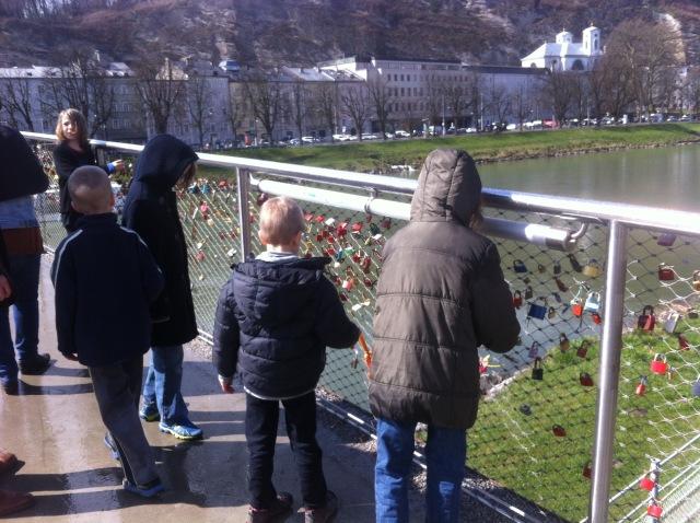 The lock bridge in Salzburg