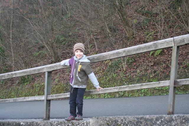 Sebastian on the way up to Hohensalzburg Fortress.